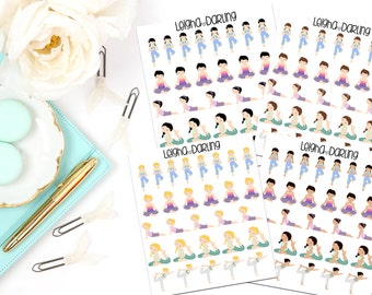 Yoga/Exercise Planner Stickers