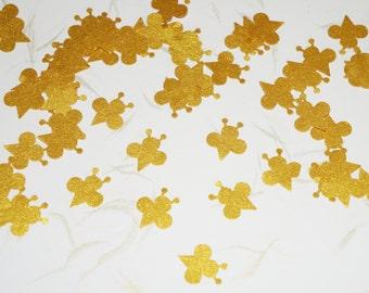Gold Bee Confetti, Kids Birthday Confetti, Insect Theme Party, Wedding Table Confetti, Birthday Favor, Gold Confetti, Hand Punched Confetti