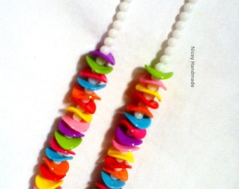 Girl's Colorful Necklace,Girl's Beaded Necklace