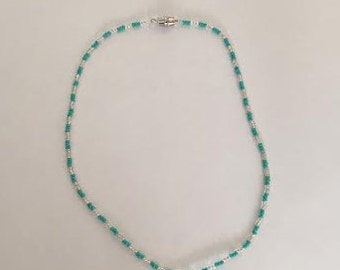 Dainty turquoise beaded necklace