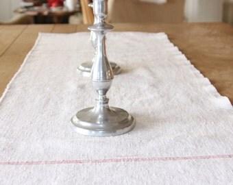 Table Runner, Handmade, Vintage Linen, Large