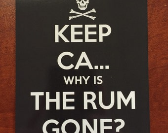 "DCL Door Magnet ""Keep Ca... Why Is The Rum Gone>"" Disney Cruise"