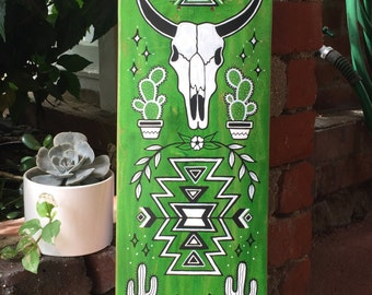 Southwestern skateboard art