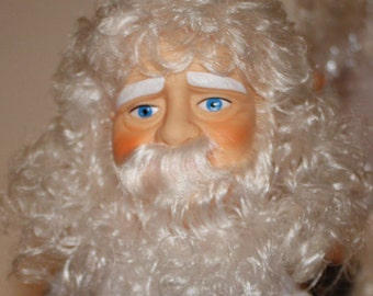 "Santa Music Box Doll, Billie Peppers Fibre Craft 14"" Soft Body Christmas Craft 3205"