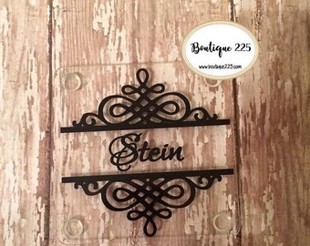 Personalized acrylic coasters--set of 4