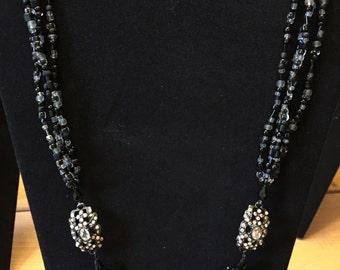 Black sparkle necklace