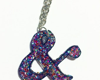 Pretty Punctuation Ampersand Necklace, Perfect for a Writer or a Teacher!