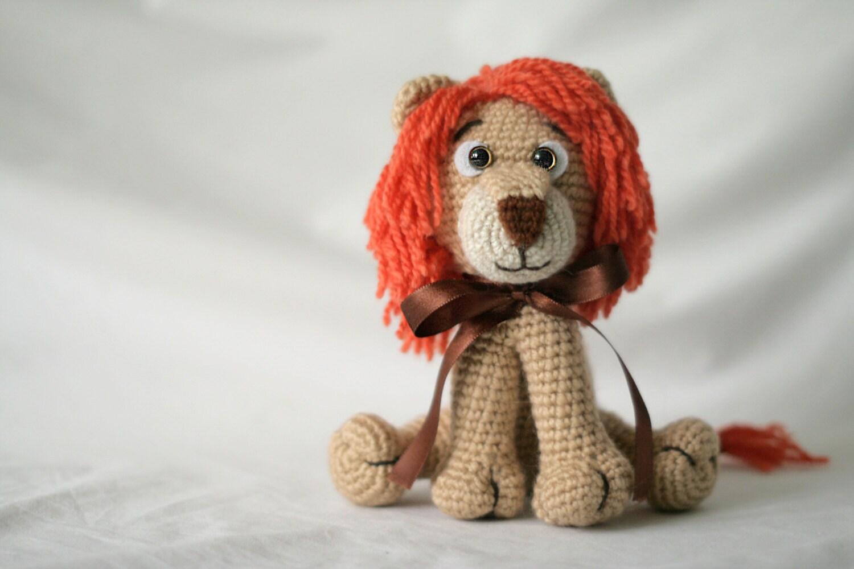 Amigurumi Lion Handmade toy Lion Crochet by LittleWoolyFriends