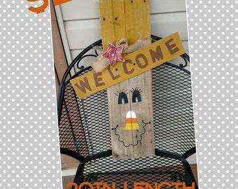 Primitive scarecrow door hang