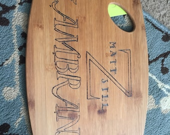 Personalized Wood Burnt Cutting board