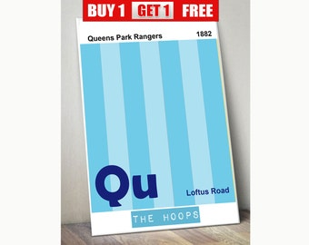 QPR print, Queens Park Rangers wall art, Queens Park Rangers  prints