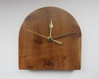 Handmade Elm Wood Clock