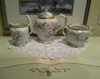 Limoges hand painted teaset
