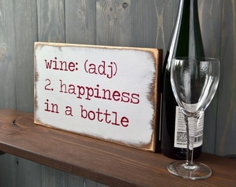 Funny wine - Wine gifts - Gifts for mom - Gifts for him - Hostess gift - Housewarming gift - Man cave sign - Wine lover gift -  Bar sign