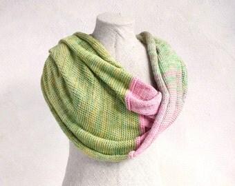 Bridesmaid shawl / Knit mohair wrap shawl / Infinity scarf / Cozy bohemian shoulder warmer / Maternity nursing shawls Rosebud hypoallergenic