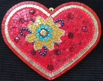 "Mosaic heart "" blossoming heart"""
