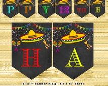 Mexican fiesta decorations diy | mexican fiesta party bunting flags | mexican fiesta party decorations | mexican fiesta banner editable