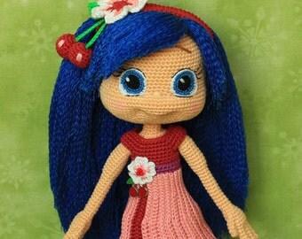 Cherry Jam - Handmade crochet doll
