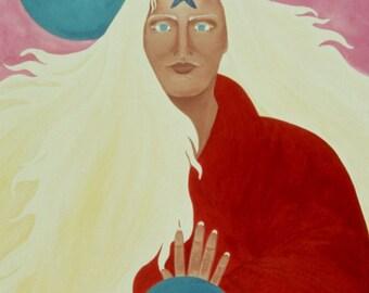 "Giclee Print Fine Art Paper Surreal Print Metaphysical Print ""As Above So Below"""
