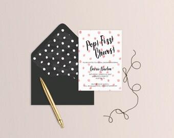 Pop Fizz Cheers Bridal Shower Invitation - Set of 25 or Digital
