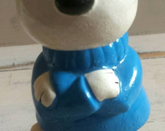 "Vintage Snoopy  ""Joe Cool"" Coin Bank.     1970s Piggy Bank."