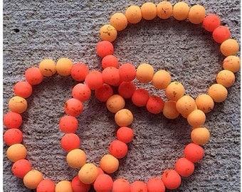Neon Orange Yellow Bracelets
