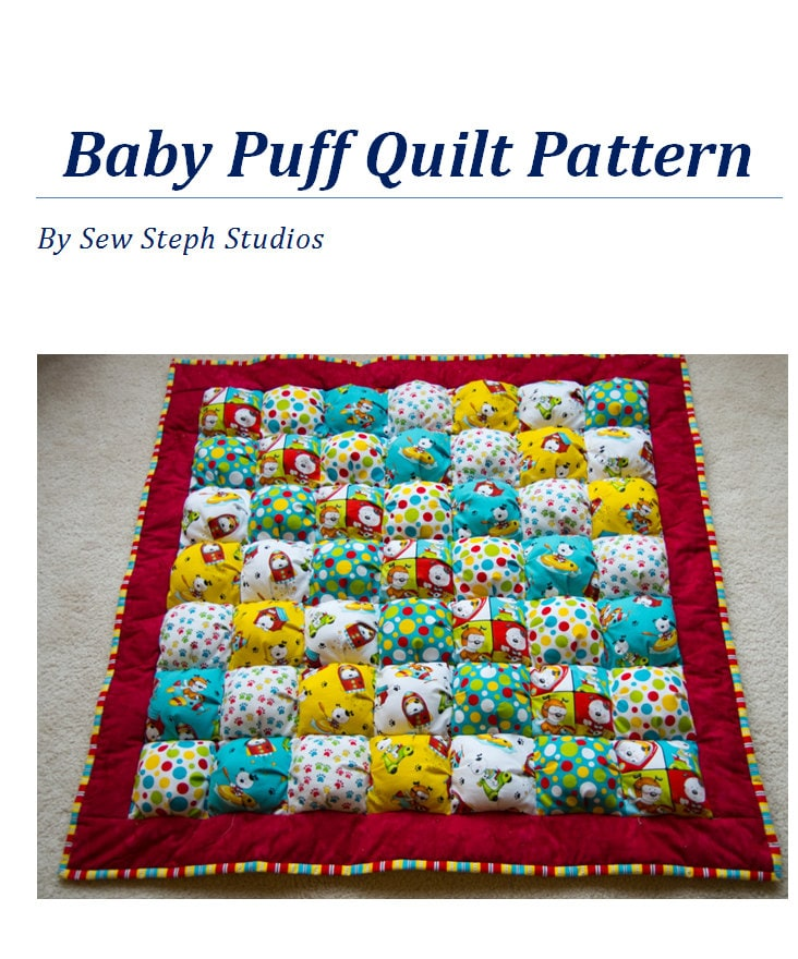 Free Pattern For Baby Puff Quilt : Create your own Puff Quilt the easy way Tutorial/Pattern for