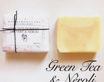 SOAP Green Tea & Neroli / / Gentle soap / / all natural soap / / handmade in Montréal
