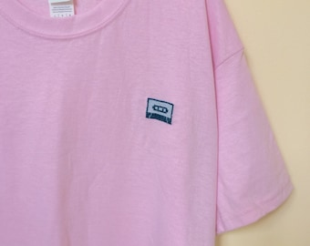 Embroidered Retro Cassette T-shirt