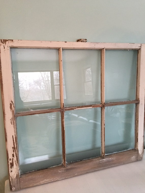 sale window pane frame vintage old home decor rustic