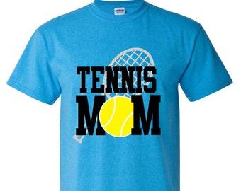 Tennis Mom Shirt with Ball  Tennis Mom Bling Tennis Shirt Tennis Raquet shirt
