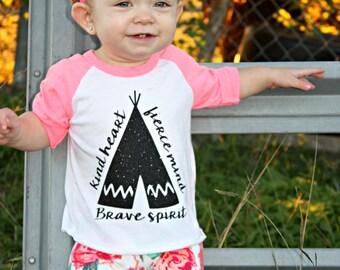 Baby Girl Clothes, Toddler Shirt, Baby Shirt, Teepee Shirt, Kid Clothing, Baby Fashion, Toddler Fashion, Raglan, Custom Kid Clothing