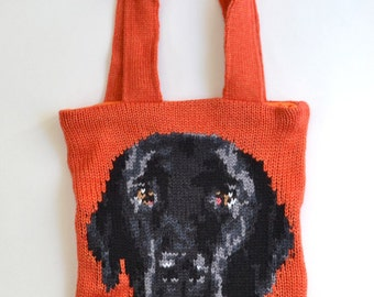Custom Pet Portrait Knit bag