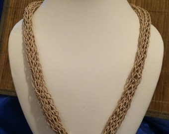 iCord Knit Necklace, Toupe.
