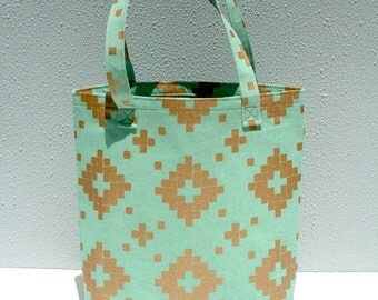Canvas Tote Bag - Aqua