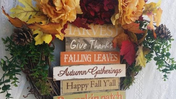 Fall Decoration, Fall Wreath, Beautiful Autumn Wreath, Harvest Fall Decor, Autumn Wall Decor, Autumn Harvest Wreath, Thanksgiving Wreath