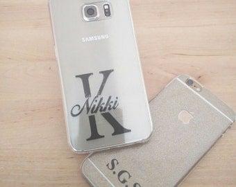 Personalised Transparent Monogrammed Phone Case