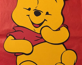 One Baby Winnie the Pooh Card Stock Die Cut cake topper