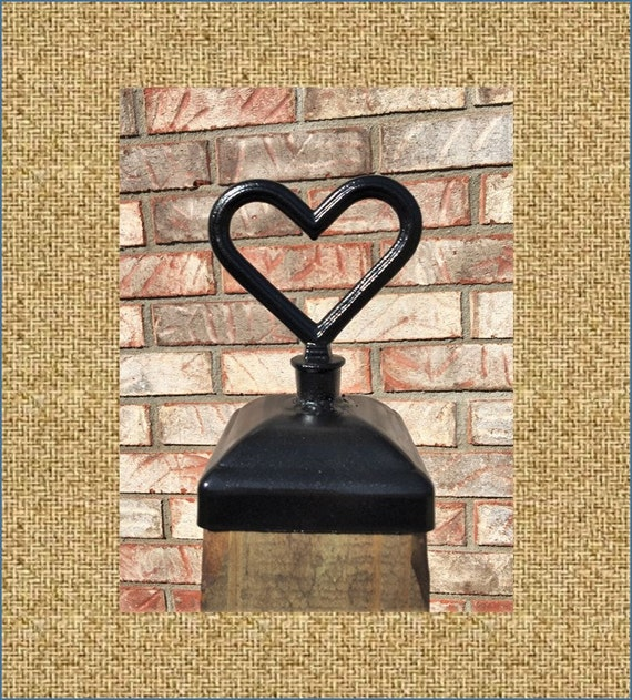 Fence Post Cap Decorative Heart For 4x4 Fence And By