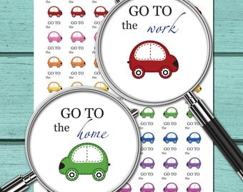 Car Planner Stickers Download Planner Stickers Printable Planner Stickers (ni41b)