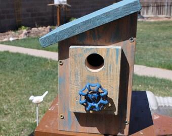 Blue faucet Birdhouse