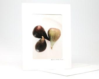 "Fine Art ""Figs"" Blank Single Card With Envelope"