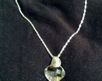 Sterling Silver and Quartz Crystal Briolette Necklace