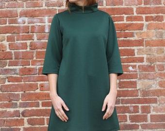 Sixties Dress, Green Sixties Dress, Sixties Mini dress, 60's dress, Green 60's Dress, 60's Mini dress