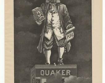 1897 Quaker Oats Full Page Ad