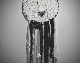Giant black and white dream catcher