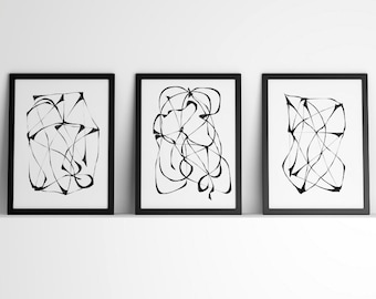 Abstract Art Print, Set of 3 Prints, Printable Wall Art, set of 3 wall art, Set Of Prints, Printable set, Wall Art Set,Prints For Office