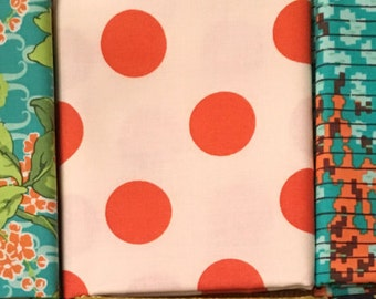SALE 1 YARD CUT Denyse Schmidt Fabric - Franklin - Big Dot - Glen