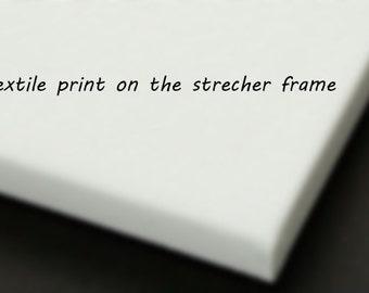 Textile print on stretcher frame