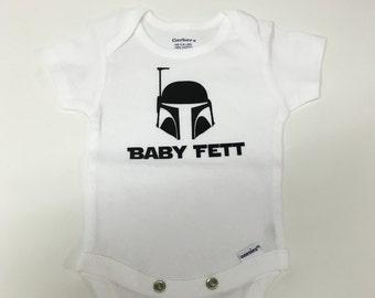 Star Wars Onesie - BABY FETT -  Baby Boy Onesie